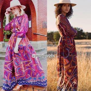 🆕 ANTHROPOLOGIE Maren Embroidered Maxi Dress